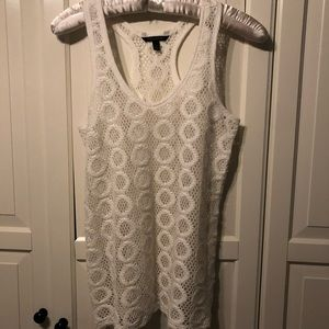 Banana Republic Circle Lace Tank Top